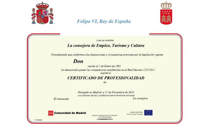certificados de profesinalidad